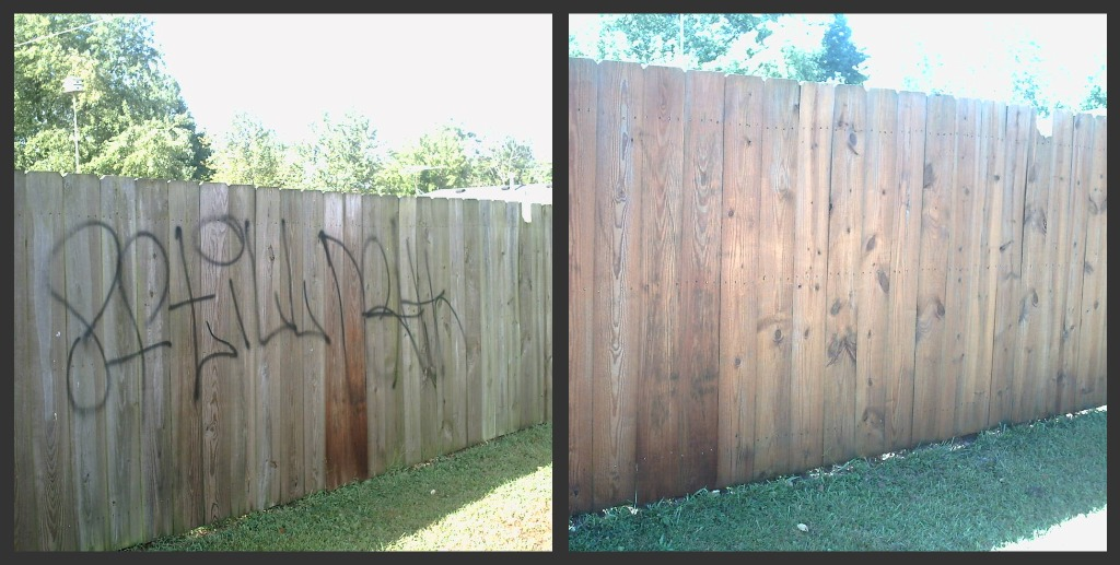 Graffiti removal  Cleaned by Pete